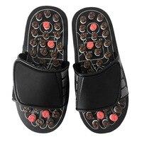 1 زوج أحذية أقدام القدم الرعاية الصحية الرعاية الصحية المنتج بيبل ستون مدلك تدليك الصنادل