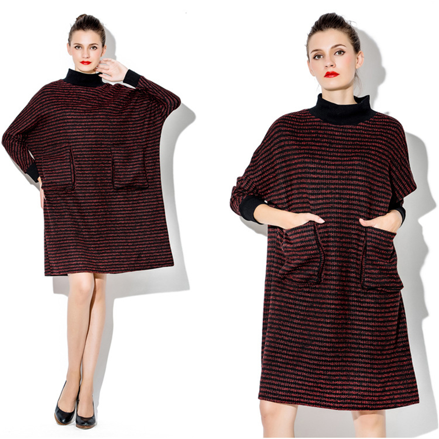 Women Knitted Dress Winter Autumn Long Sleeve Pregnant Clothing Maternity Dresses High Quality Cotton Pregnancy Dresses 70R074 maternity dresses in autumn and winter long sleeve turtleneck clothes for pregnant women pregnancy clothing 2017 autumn q41