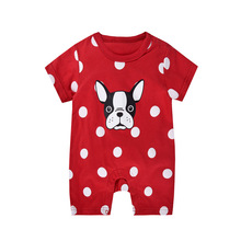 Summer new baby onesies newborn cotton boys and girls short-sleeved shorts hafu romper shein