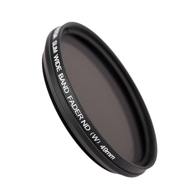 49mm Slim Fader Variable ND Filter Adjustable Neutral Density ND2 to ND400