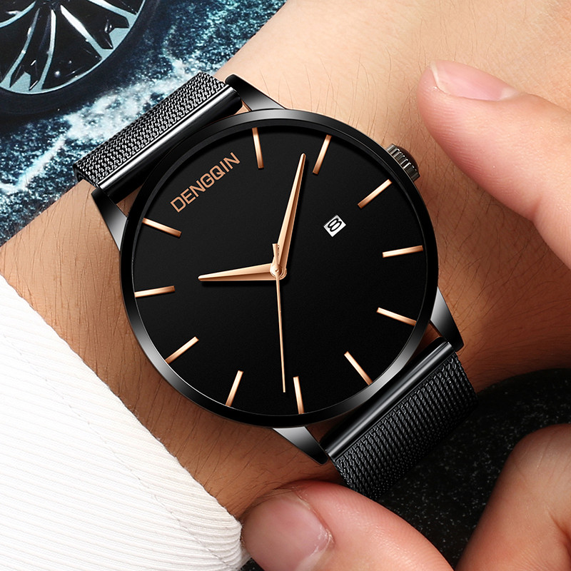 Sports Date Mens Watches Top Watch Luxury Waterproof Sport Watch Men Ultra Thin Dial Quartz Watch Casual Relogio Masculino AD