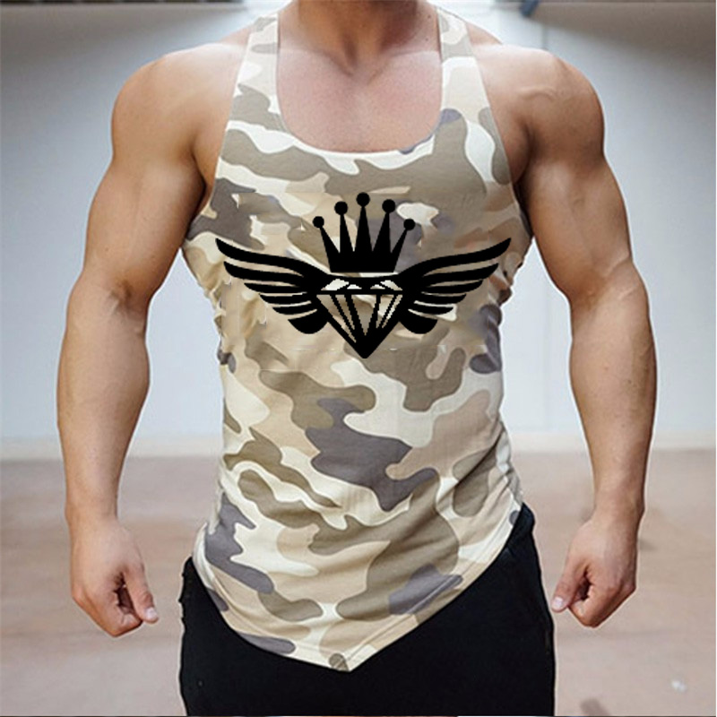 New Men's Close-fitting Vest Fitness Elastic Casual O-neck Breathable Type All Quick-dry Solid Undershirts Male <font><b>Tanks</b></font> M-XXL image