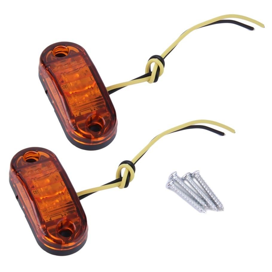 2pcs Piranha LED Side Marker Blinker Light Lamp For Car Truck Trailers 12/24V Amber Hot Selling
