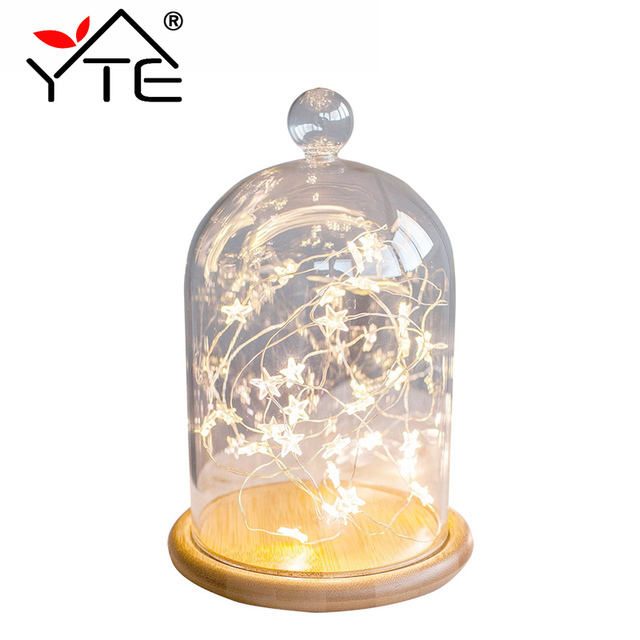 YTE LED Star Copper Wire String Lights LED Fairy Lights Christmas ...
