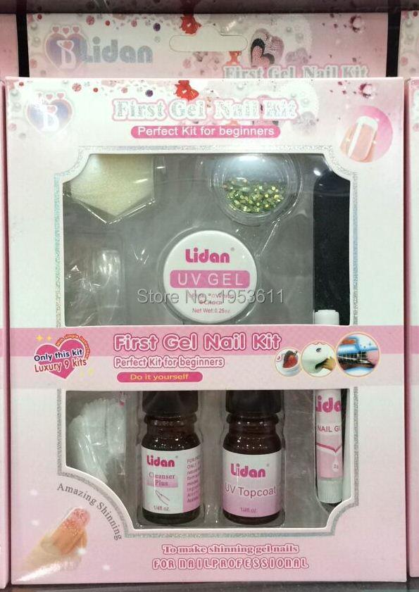 Lidan gel profesional uv nail art kit set top coat consejos pincel ld 84g solutioingenieria Image collections