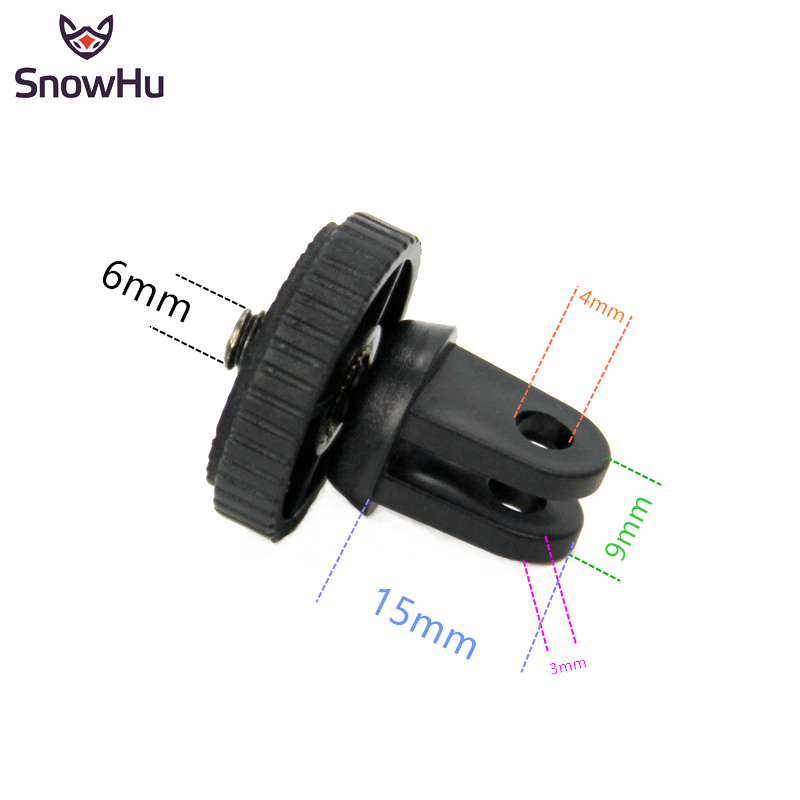 SnowHu For Mini Tripod Mount Adaptor/adapter Screw For Gopro Hero 8 7 6 5 4 SJcam For Xiaomi Yi 4K Camera Accessories GP60B