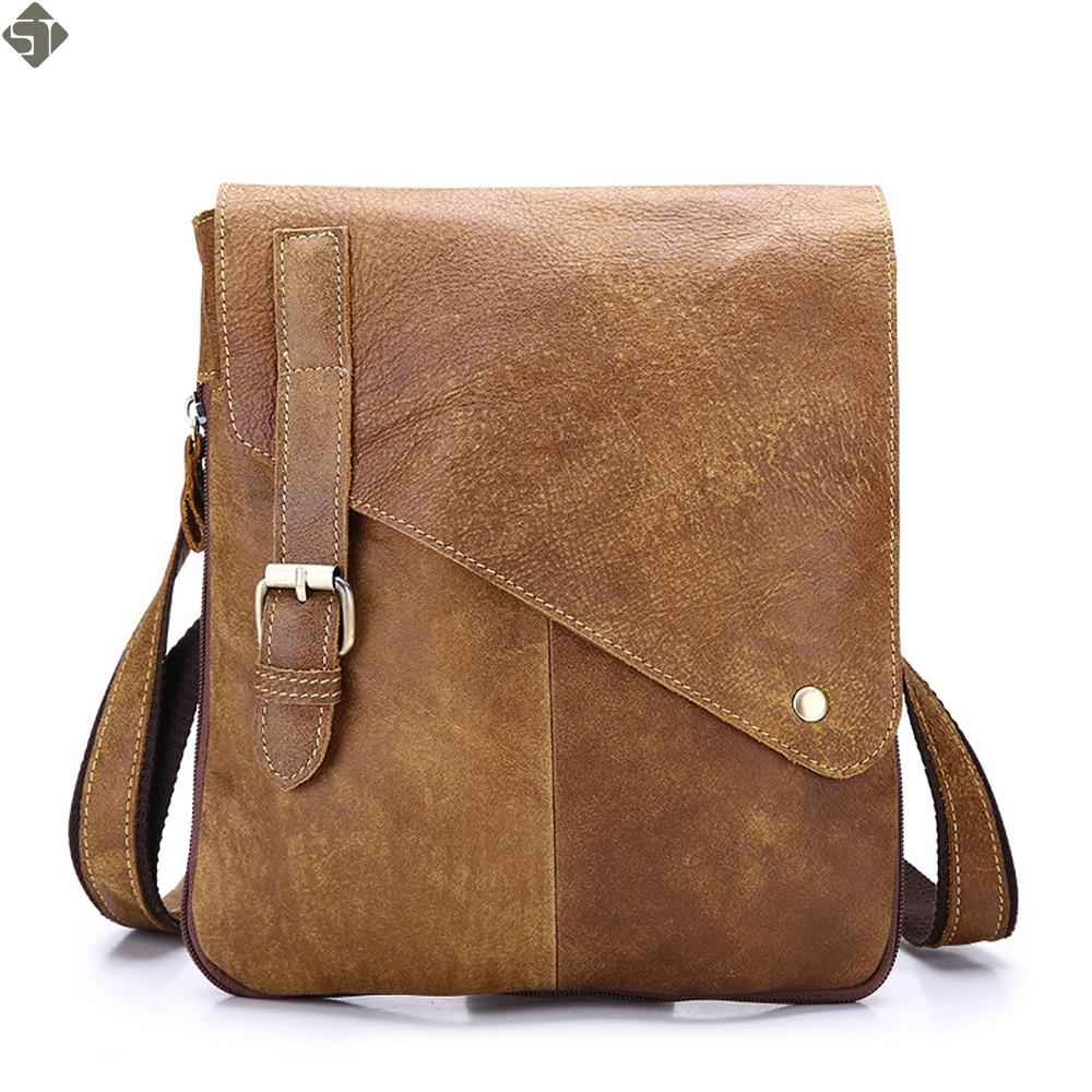 Begeistert Geschäfts Echtes Leder Männer Messenger Bags Marke Hochwertige Mode Für Männer Umhängetasche Lässig Vintage Aktentasche Laptoptasche