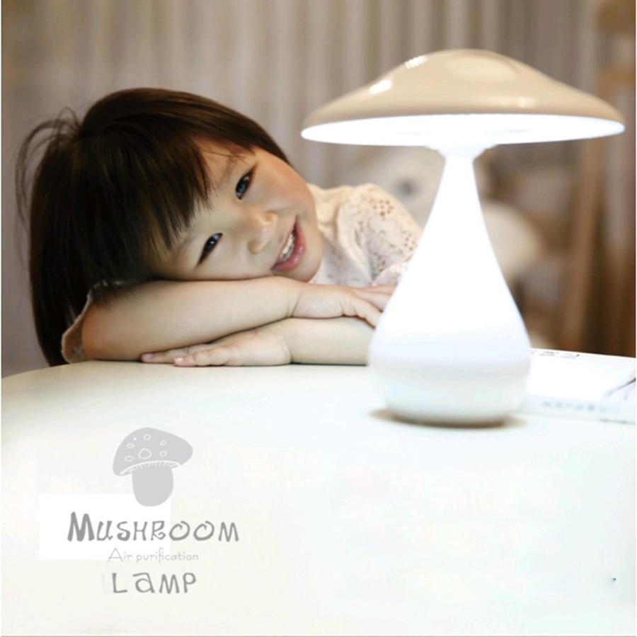 ФОТО Factory directly supply Creative mushroom air purifier LED table lamp children reading cute bedside night light