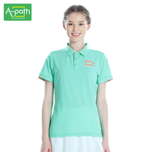2017 New Woman Summer Outdoor Camping Sports Lapel Quick Dry Solid Lovers Hiking Mountain Climbing Collar Women POLO T-shirt