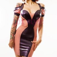 Nowa konstrukcja gumy lateksowej sukienka