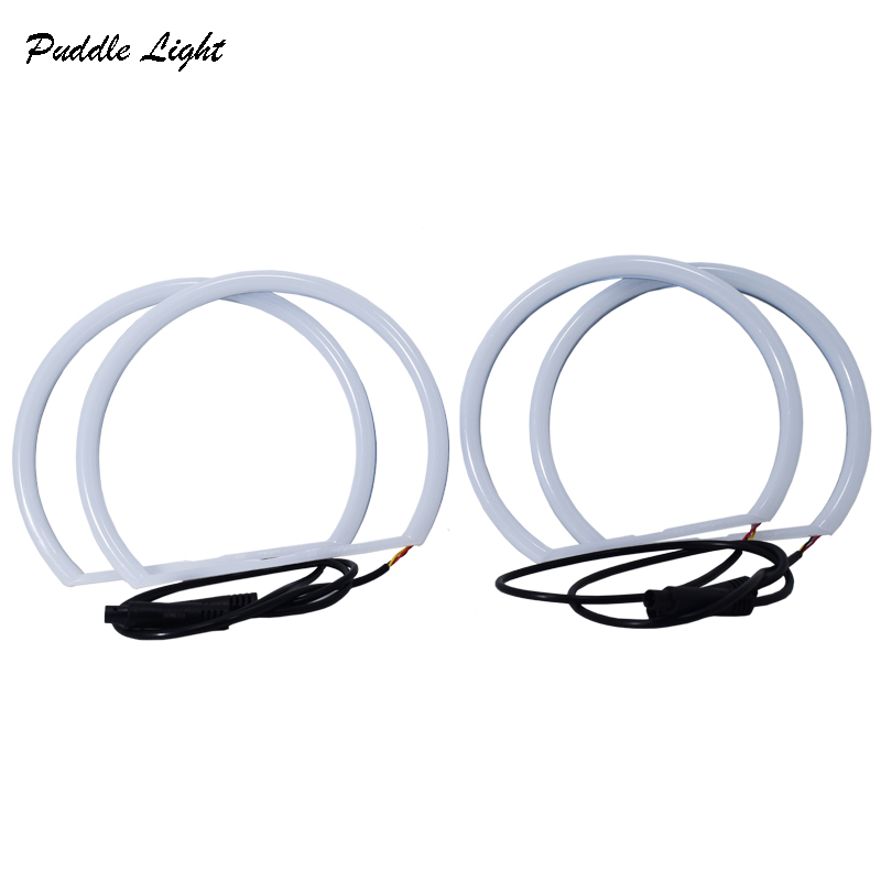 Dual Color Car Angel Eyes for BMW E36 E38 E39 E46 3 series Cotton lights Halo Ring LED Headlight with Turn lights White Yellow in Car Light Accessories from Automobiles Motorcycles