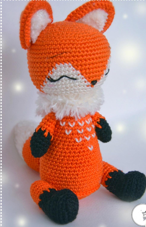 Crochet Toys  Amigurumi  Doll Fox  Baby  Model    Number XC041038