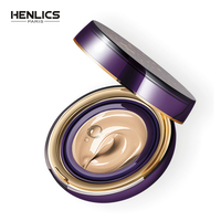HENLICS Hyaluronic acid Sunscreen Bouncing Air Cushion BB Cream Concealer Moisturizing Foundation Whitening Face Cream