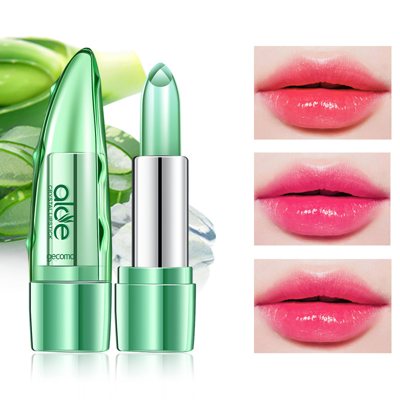 2018 New Brand Lip Color Make Up Stick Waterproof Long Lasting Magic Change Color Aloe Wom