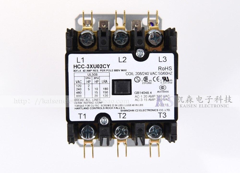 208V-240V 30A HCC-3XU02CY 50HZ/60HZ American three-phase AC contactor208V-240V 30A HCC-3XU02CY 50HZ/60HZ American three-phase AC contactor