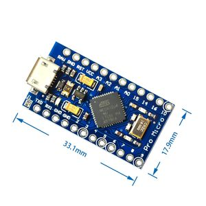 Image 2 - 10 قطعة/الوحدة جديد برو مايكرو ل اردوينو ATmega32U4 5 فولت/16 ميجا هرتز وحدة مع 2 صف رأس دبوس ل ليوناردو 10 قطعة/الوحدة أفضل جودة
