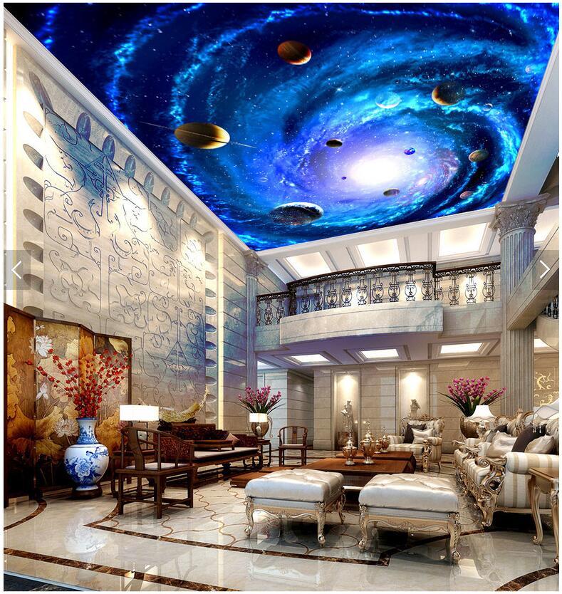 Custom Photo 3d Ceiling Murals Wallpaper Star Of The Milky