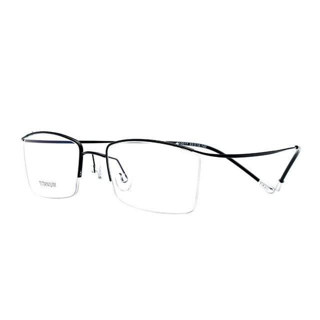 6c80a19a699b Viodream Brand frames Ultralight Super Half frame Elastic Pure Titanium  optical myopia read Glasses frames Oculos Opticos 10017
