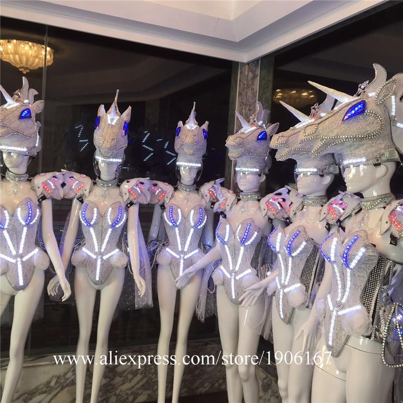 Led luminous horse costume flashing ballroom stage clothes11
