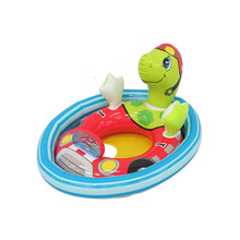 Tortoise Cartoon Inflatable Boat Outdoor Kid For Baby Play Water Riding Swim Ring Pool Toy Summer Floating