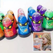 ninja slime Antistress toys can blow balloons glitter popular toys Colorful Magic Soft slime Transparent for children kids(China)