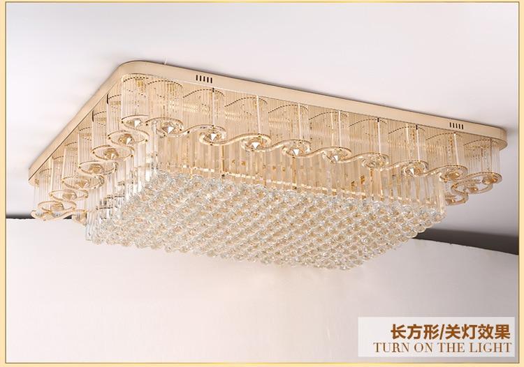 Aliexpress Runde Kristall Leuchten Luxus Lobby Europischen Wohnzimmer Licht Rechteckigen Deckenleuchten Lichter Leuchte Von Verlsslichen