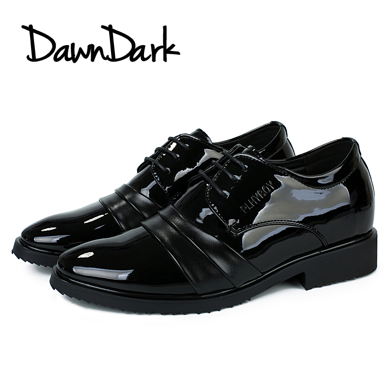 Leather Dress Shoes for Men Black Male Formal Pointed Toe Wedding Footwear Lace Up Man Business Fashion Shoes