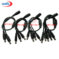 1PCS 1 DC Female To 2/3/4/5 Male plug Power Cord adapter Connector Cable Splitter for CCTV Security Camera LED Strip