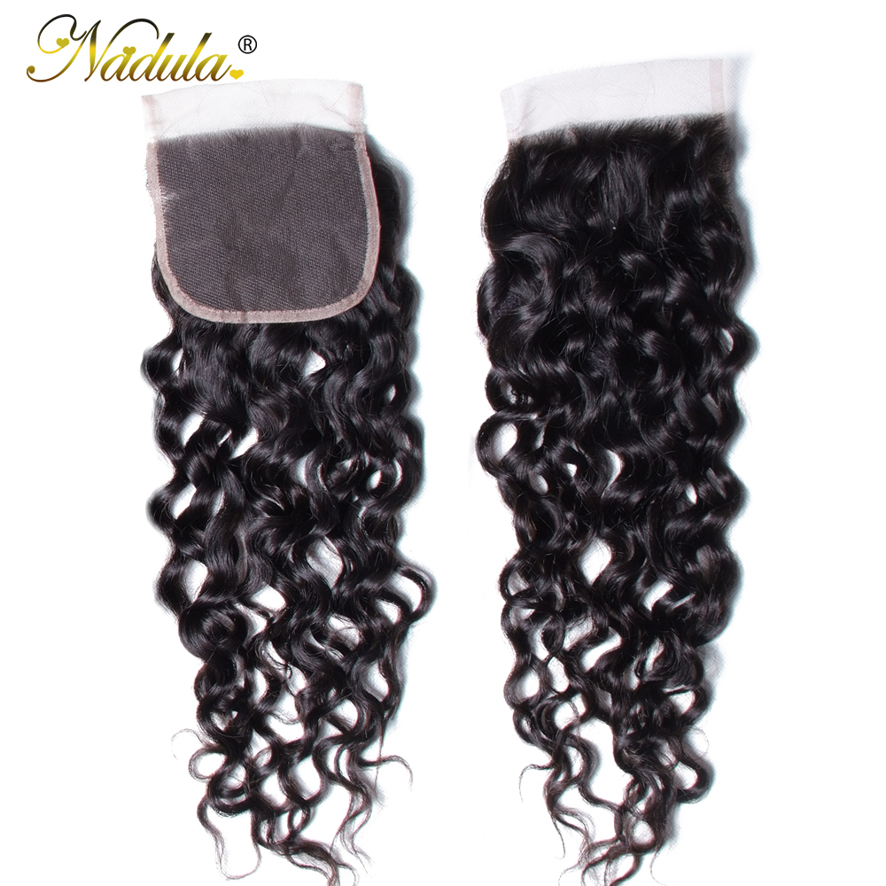 Nadula Hair  Water Wave Closure 8-10inch  Closure 4*4 Swiss Lace Closure Natural Color 1