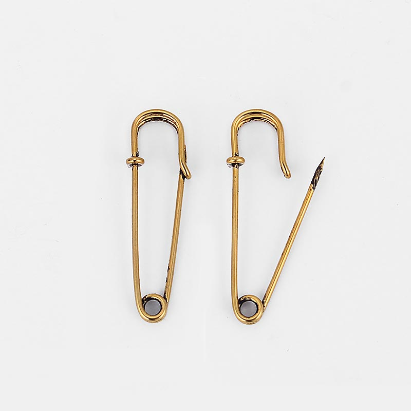 10pcs Large Safety Pins Shawl Buckle Durable Strong Metal Kilt Scarf Brooch