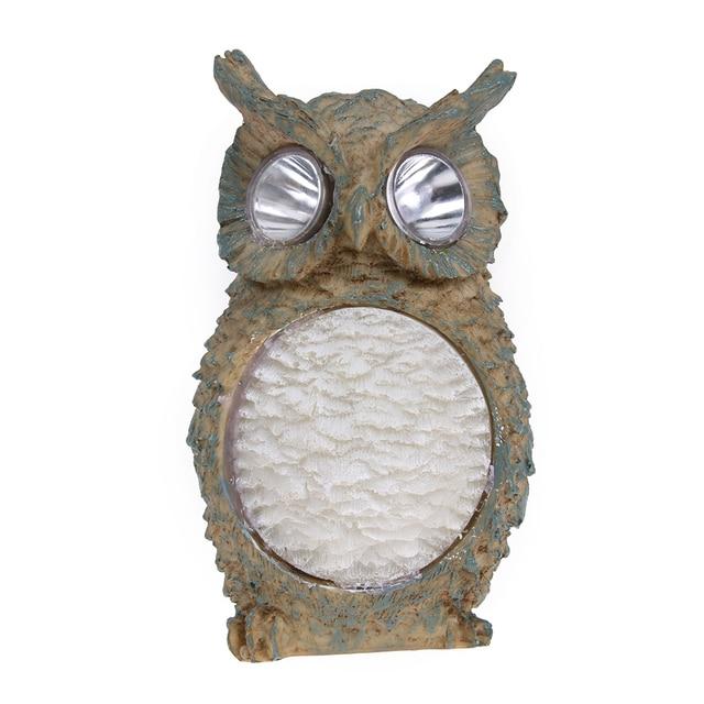 LED Solar Light Outdoor Owl Designed Powerful Solar Garden Lights Lamp  Resin Outdoor Lighting For Garden
