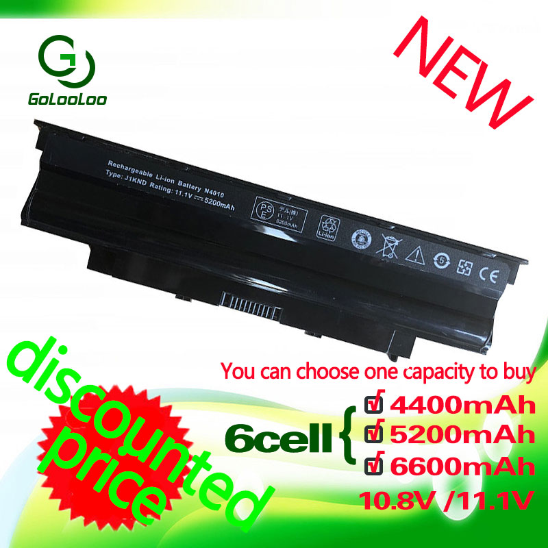 Dell Inspiron J1KND 용 Golooloo 11.1v 노트북 배터리 J1KND J4XDH 4T7JN 04YRJH N5010 13R 14R N7010 FMHC10 451-11510 312-0233 9TCXN