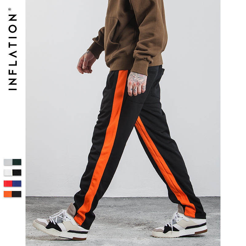 INFLATION 2018 Mens Sportswear Pants Side Stripe Jogger Pants Elastic Waist Vintage Casual Mens Track Pants 348W17 pocket side elastic waist pants