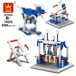 Image 4 - WANGE 4 in 1 Electronic Power Machinery Blocks DIY Creative Blocks Racing Car Toys Educational Building Block Toys for Children