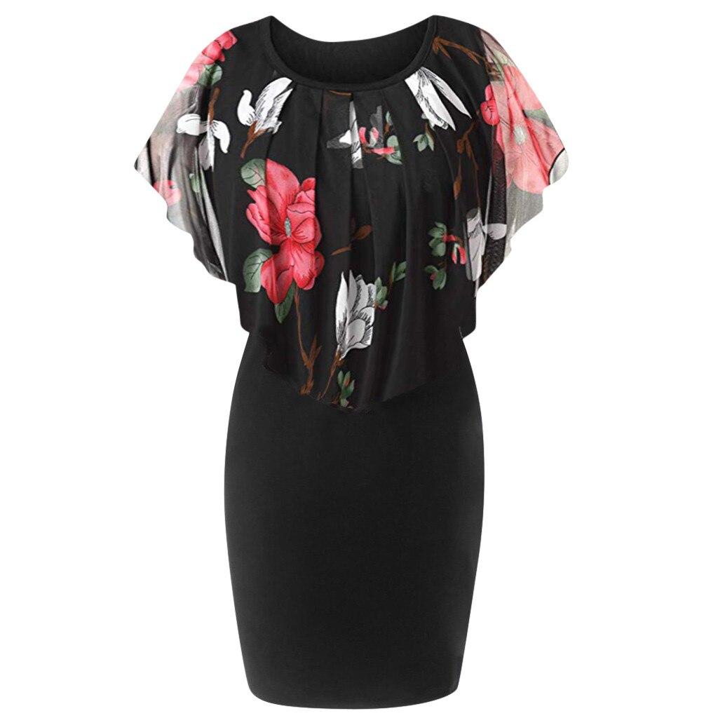 c97387a5a174a Women Mini Dress Summer Cool Big Batwing Sleeve Slim Dress O Neck ...
