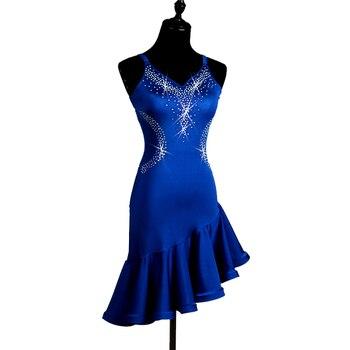 latin dress  latin dance dress girls tassel latin dress women lateinkleid high quality latino para mujer wome royal blue lq038