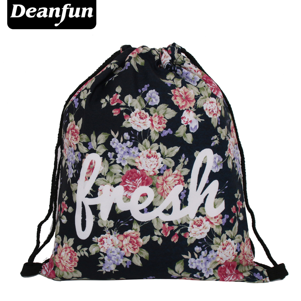 Deanfun Women Backpack 3D Printing Escolar Backpacks Travel Softback Feminina Mochila fresh Drawstring Bag S66 polygon wolf 3d printing fashion women party bolsa feminina drawstring bag travel backpack mochila man s bags