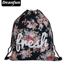 Deanfun Women Backpack 3D Printing Escolar Backpacks Travel Softback Feminina Mochila fresh Drawstring Bag S66