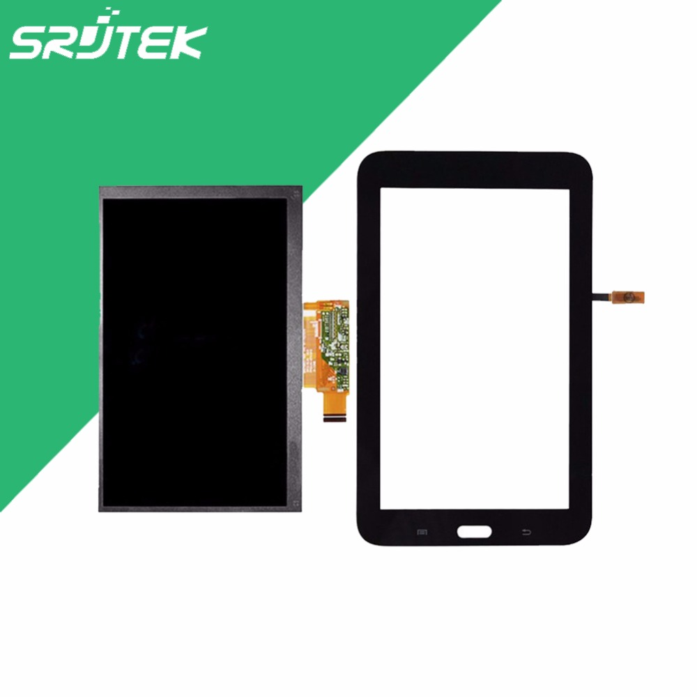 Srjtek 7 For Samsung Galaxy Tab 3 Lite 7.0 SM-T111 T111 LCD Display Screen+Touch Digitizer Panel Repair Part+Tracking Number