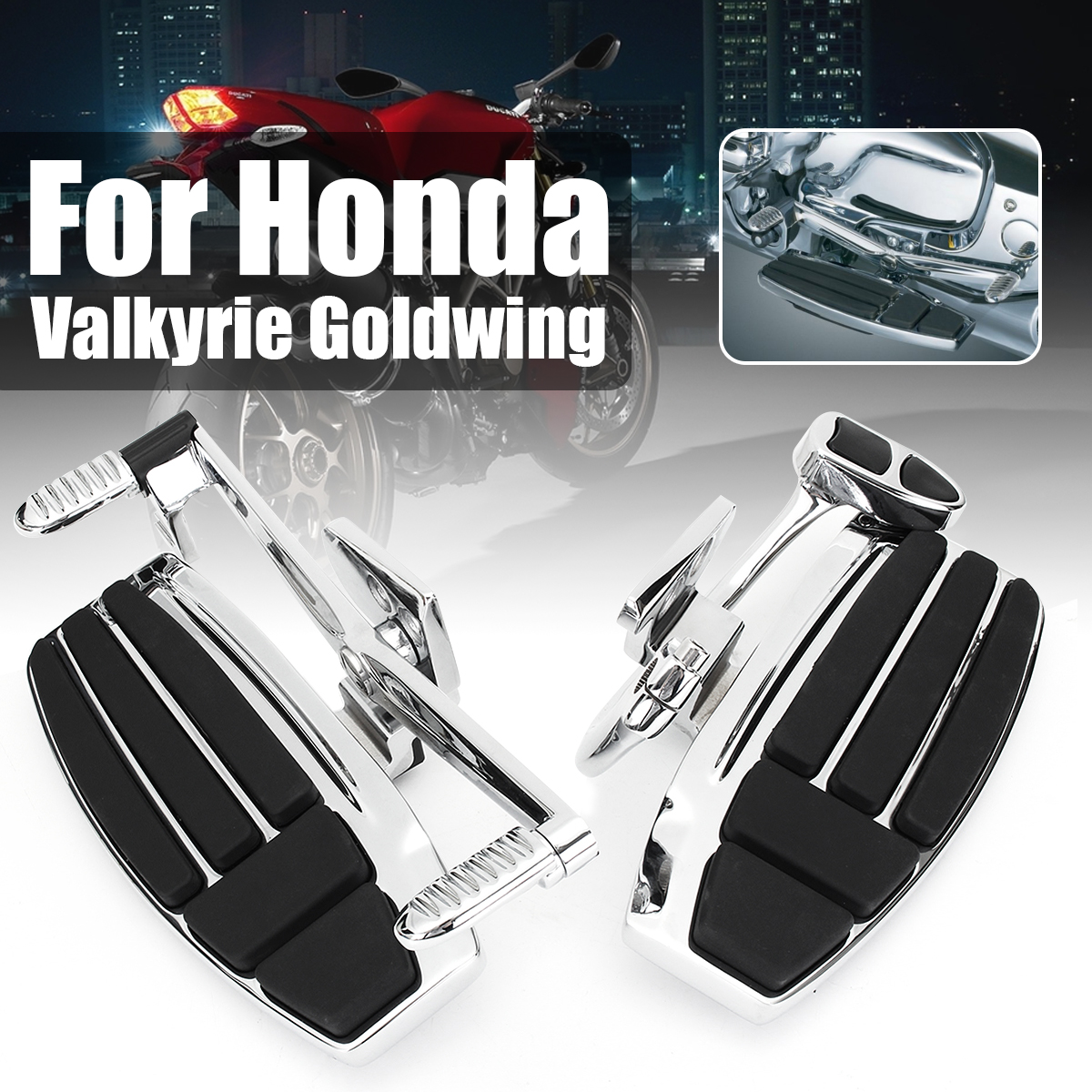Aluminum Alloy Driver Front Motorbike Foot Board Peg for Honda Valkyrie 1800 2014-2015 Goldwing GL1800 2001-2016 F6B 2013-2016 headlight headlamp assembly for honda goldwing f6b gl1800 2012 2013 2014 2015