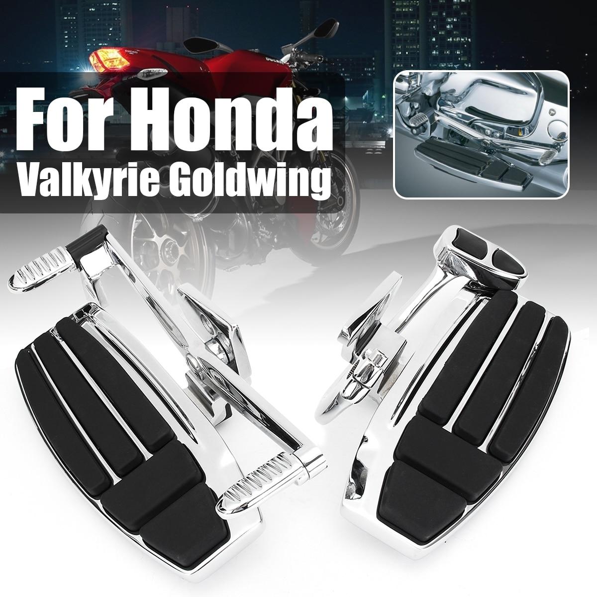 En Alliage d'aluminium Conducteur Avant Moto Pied Peg pour Honda Valkyrie 1800 2014-2015 Goldwing GL1800 2001-2016 F6B 2013-2016