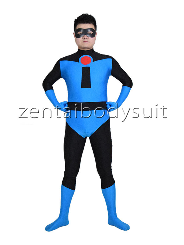 Factory Direct Wholesale Price Blue Mr Incredible Superhero Spandex Costume Halloween Cosplay Party Prom Zentai Suit