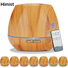 Aromatherapy Oil Diffuser Remote Control Ultrasonic Air Aroma Humidifier 550ML Large Capacity Electric Fogger Wood