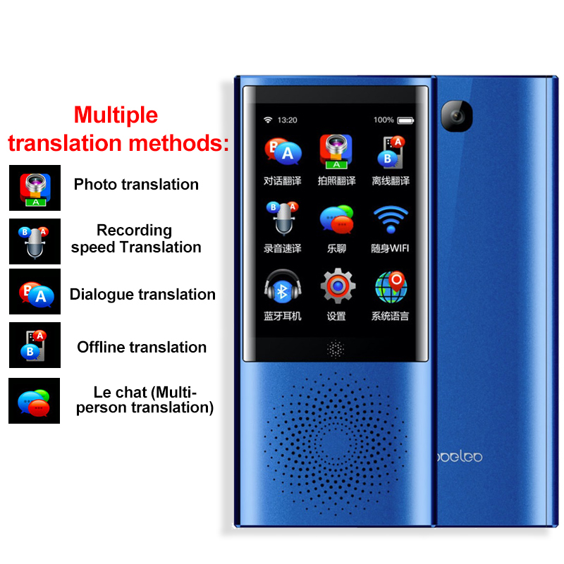"Image 3 - Boeleo W1 AI Simultaneous Voice Translator 4G Network Multi language Portable Smart Voice Translator 2.8"" Touch Screen 8G Memory-in Translator from Consumer Electronics"