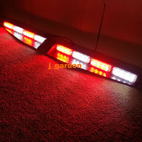 2-16 LED 96 Watt Rojo/Blanco Alternativo Beacon Barra de Luces de Emergencia Del Carro Del Coche Exclusivo Cubierta Dividir Visor Dash Barra de Luces de Advertencia del estroboscópico