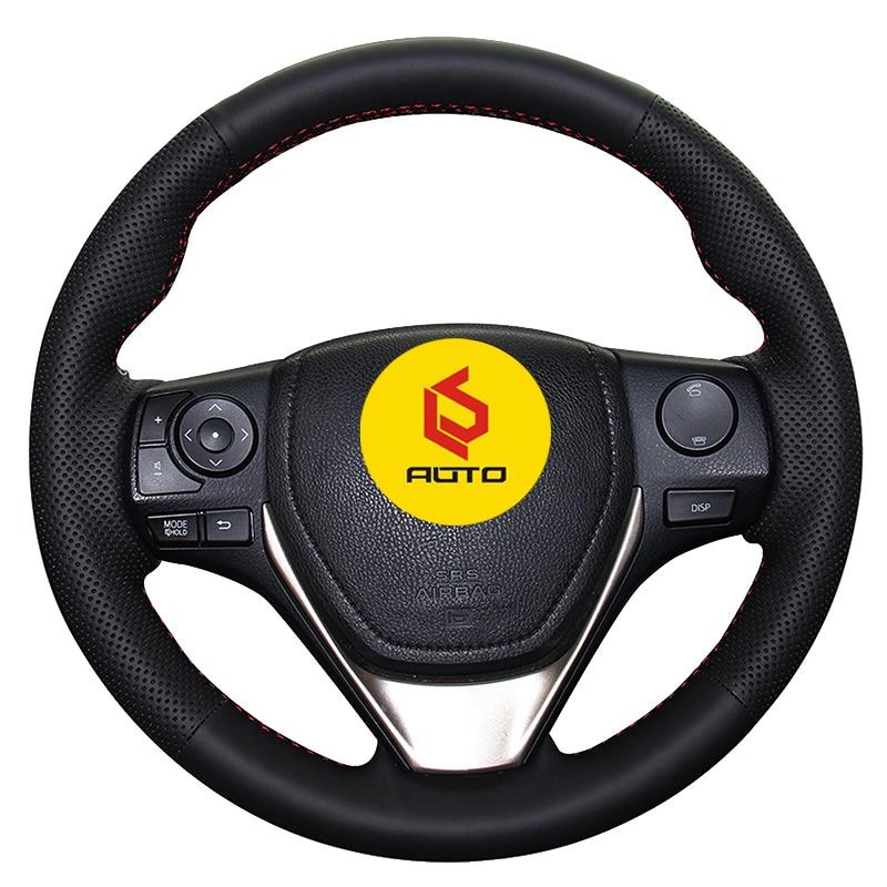 Braid on the Steering Wheel Cover for Toyota RAV4 2013-2017 Corolla 2014-2017 Auris 2013-2016 Scion iM Tampa do volante do carro