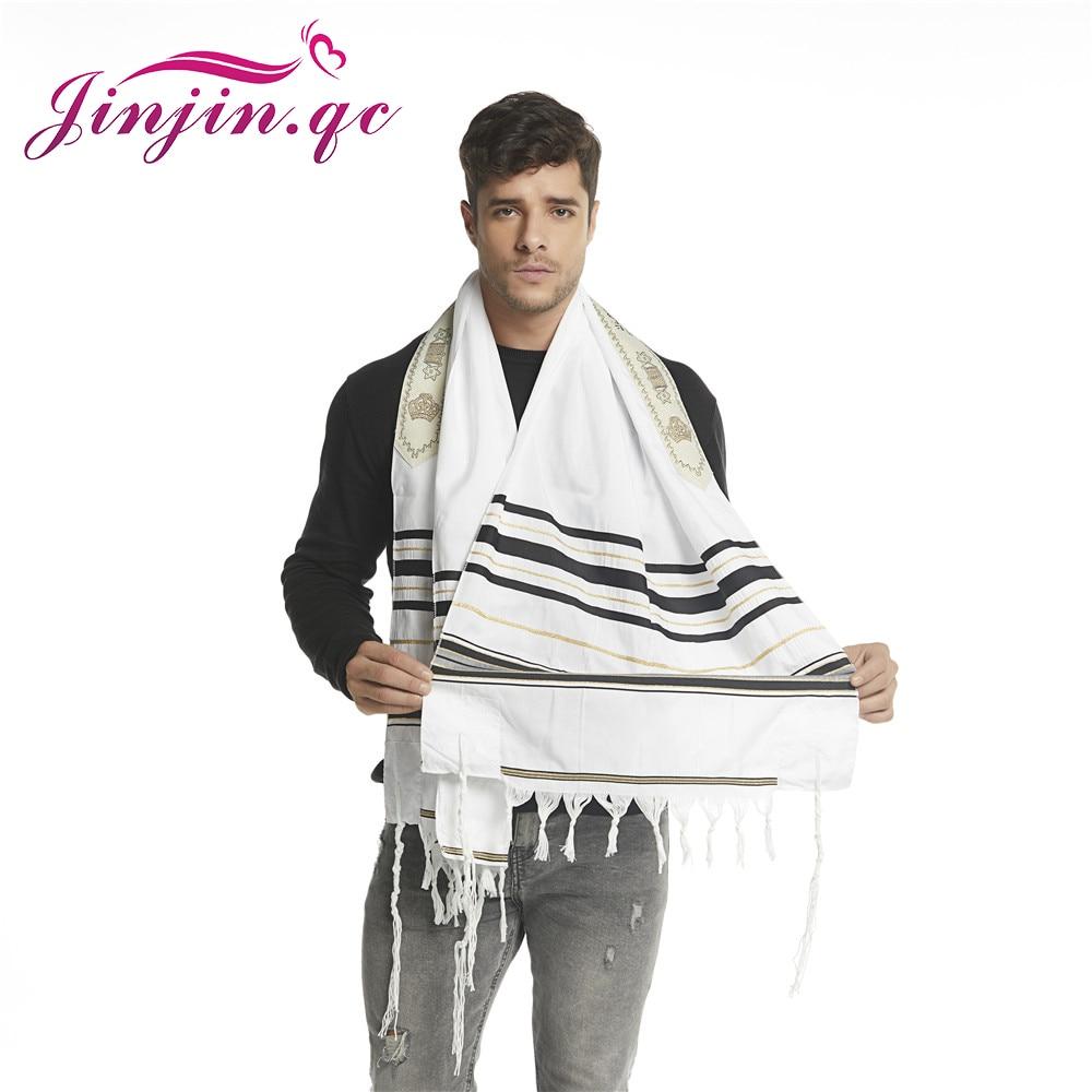 """Jinjin.QC Scarf For Men 72x22"""" (Approx) Messianic Jewish Tallit Talit Prayer Shawl and Talis Bag Prayer Scarves and Shawls-in Men's Scarves from Apparel Accessories"""