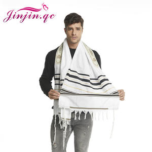Jinjin.qc Scarf Shawls Prayer-Scarves Men for 72x22-/Approx/Messianic/Jewish Tallit And