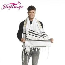 """Jinjin. QC szalik dla mężczyzn 72x22 """"(w przybliżeniu) mesjański żydowski Tallit Talit modlitwa szal i Talis torba modlitwa szaliki i szale"""