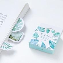 20パック/ロットミント日記シリーズミニ紙のステッカーの子供乳製品デコレーションステッカー梱包ラベル自己粘着付箋卸売